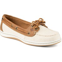 Women's Firefish Canvas Boat Shoe in Natural Tan by Sperry - FINAL SALE