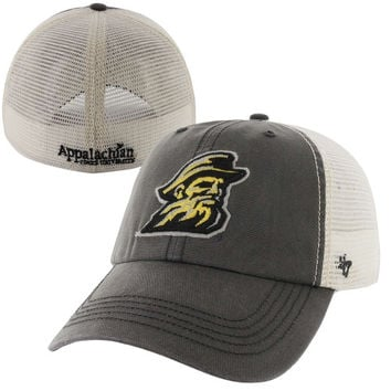 47 Brand Appalachian State Mountaineers Caprock Canyon Flex Hat - Gray/White