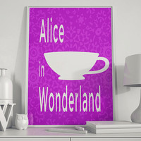 Alice in Wonderland Minimalist Poster Printable Download