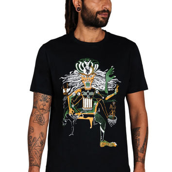 Narasimha T shirt- Lion T shirt- Avatar T shirt- Indian Mythology- Vishnu Avatar- Mechanical-Occult T shirt- Hipster T shirt-Festival shirt