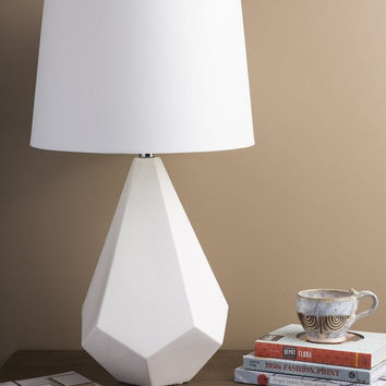 0-014110>1-Light 3-Way Table Lamp White
