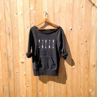 one way or another Arrows Sweater, Boho Top, Tribal Sweatshirt, S,M,L,XL