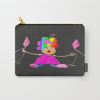 RAINBOW CLOWN Carry-All Pouch by Azima