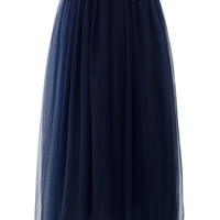 Amore Maxi Tulle Prom Skirt in Navy Blue