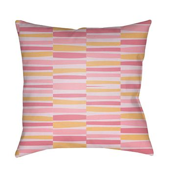 Littles Pillow Cover - Pale Pink, Lilac, Bright Yellow, Bright Pink - LI045