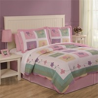 Spring Meadow Quilt and Pillow Sham