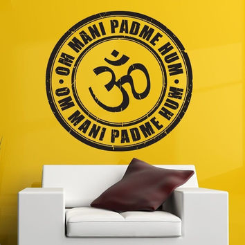 OM Mani Padme Hum Vinyl Wall Decal
