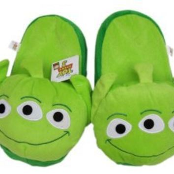 Toy Story Alien Slippers - Plush Footwear