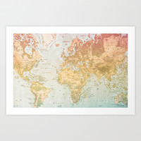Pastel World Art Print by Sandy Broenimann
