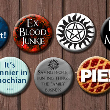 Supernatural Button Set - Choose 6