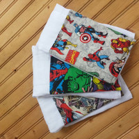 Marvel comics burp cloth set