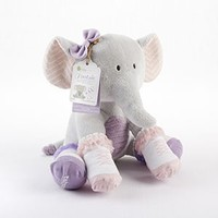 """""""Tootsie in Footsies"""" Plush Elephant and Socks for Baby"""