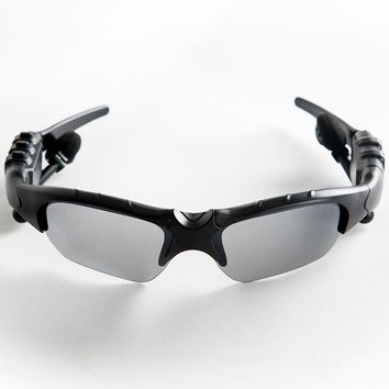 Sunglasses Bluetooth Headset Outdoor Glasses Earbuds w/Mic