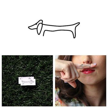 Haute Dog   Temporary Tattoo (set Of 2)