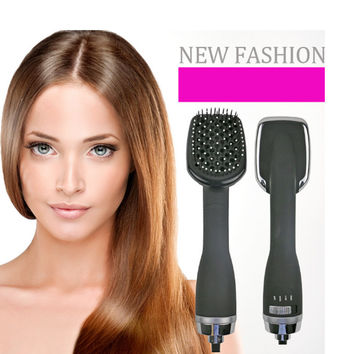 CHJ Hair Dryer Brush Ionic Brush Hair Dryer Ceramic Hair Styler Professinal Salon Straightener Styling Tools