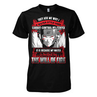 Naruto - They ask me why i m a water style user  -Men Short Sleeve T Shirt - SSID2016