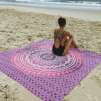 New 1pcs Bohemian Wall Hanging Tapestries Beach Towel Shawls Yoga Mat Home Decor green/ purple/blue /orange