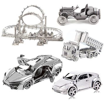3D Puzzle Car Metal Puzzle Laser Cutting Adult Model Puzzle Metal Puzzle Educational Toys Children Toy Car Gift