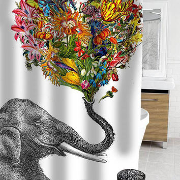 The Happy Elephant Shower Curtain