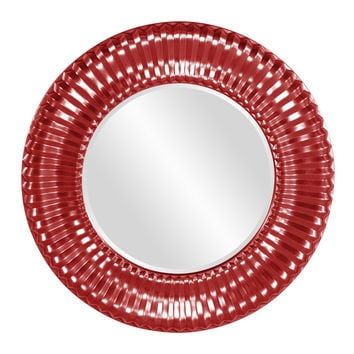 "Howard Elliott Sao Paulo Red Mirror 31"" Diameter x 2"""