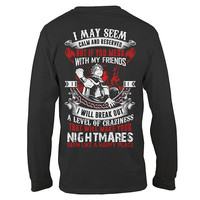 Fairy Tail- i may seem calm and reserved -Unisex Long Sleeve - SSID2016