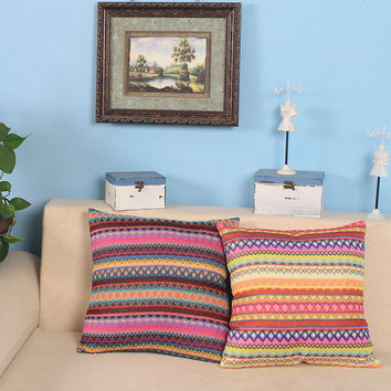Throw Pillows For Sofa Bohemian Soft Cushion Ethnic Indian Throw Cushions Cover Knitted Striped Cusion Bed Geometric Crochet New
