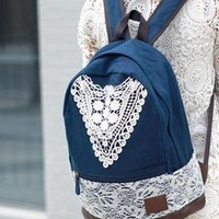 L 080203 Lace fresh casual shoulder bag