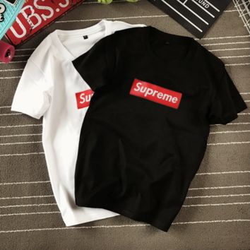 """Supreme"" Loose Large Size Short Sleeve T Shirt"