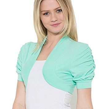 Juniors Bolero Shrug Short Cardigan Colors & Plus Sizes