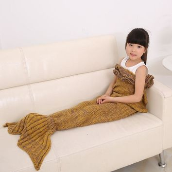 Kids Children Mermaid Tail Handmade Crocheted
