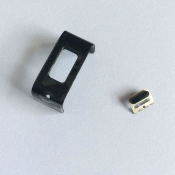 MLLSE Plastic Back Charging Clasp Piece With Button Repair For Fitbit Charge HR Button and Charging Replacement Plastic Band