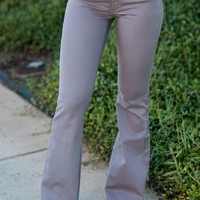 Living In Love Flare Jeans, Charcoal