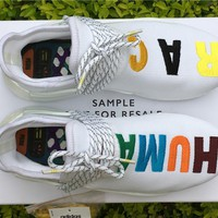ADIDAS X PHARRELL PW HUMAN RACE NMD SAMPLY BOOST Colorful Running shoes for Women & Men Size: 36--46