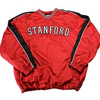 Stanford University Cardinals Baseball Windbreaker Jacket Mens Size Large