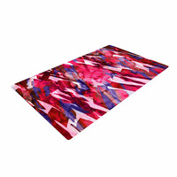 "Ebi Emporium ""Frosty Bouquet 5"" Maroon Abstract Woven Area Rug"