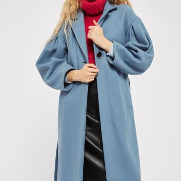 Clean Mutton Sleeve Coat | Topshop