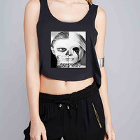 American Horror Story skull Tate for Crop Tank Girls S, M, L, XL, XXL **