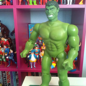 Hulk vintage action figure,mego 1978,toys,comics,green,superhero,marvel,dc,retro toys,Pop, seventies,12 inch,pre owned, collectable,