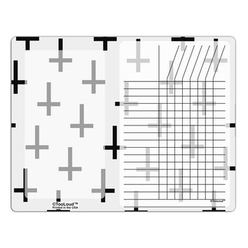 Inverted Crosses Chore List Grid Dry Erase Board All Over Print