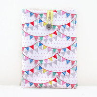 Bunting IPad Mini case, padded tablet cover sleeve in bunting fabric, Ipad Mini cover, Tech lovers gift, gift for her, handmade in the UK