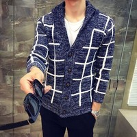 Mens Trendy Boxed Cardigan Sweater