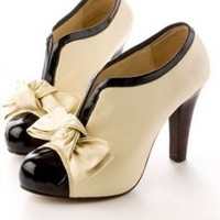 Buy Renaissance V-Opening Bowknot Platforms Beige with cheapest price|wholesale-dress.net
