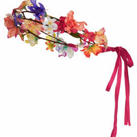 Ribbon Tie Back Floral Garland - Multi