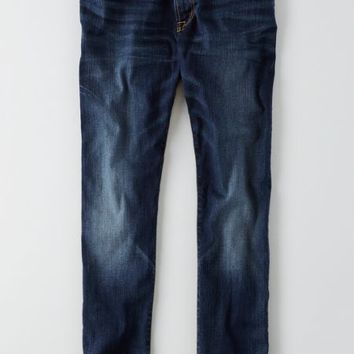 AEO Men's Slim Active Flex Jean (Dark Wash)
