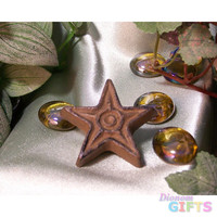 Cast Iron Rust Star Drawer Pull Set of 12