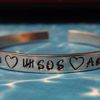 5 Seconds Of Summer Hand Stamped Metal Cuff by PaperSweetHearts