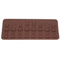 Cake Decoracion Tools 15 Cavity International Chess Shaped Chocolate Mold Ice Sugar Cake Soap Mould Silicone Cube Tray D0143