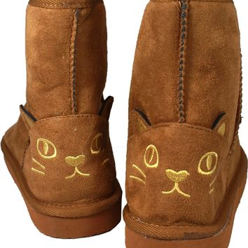 Yeees, I'm Wearing Cat Face Boots (Caramel)