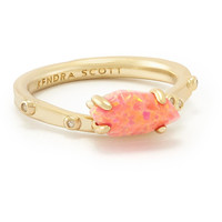 Kendra Scott: Julia Ring in Coral Kyocera Opal