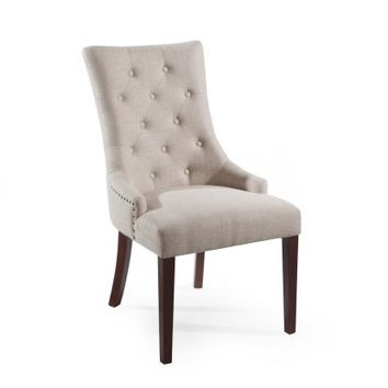 Belham Living Thomas Tufted Tweed Dining Chairs - Set of 2 - Dining Chairs at Hayneedle